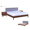 King Bed Solid Wood Madilim na Walnut W1800