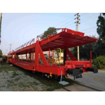 Double-decker transport semi Truck Trailer