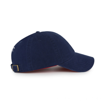 comboed cotton flat embroidery unstructured baseball cap