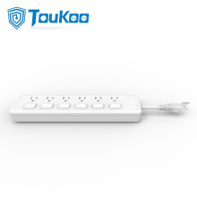 Power strip with individual switches 6 outlet