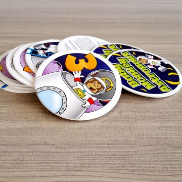 Custom Special Shaped Round Playing Cards Game