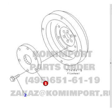 PC60-7 Excavator Engine Damper Coupling 201-01-71120