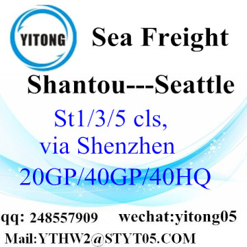 Express Service From Shantou to Seattle