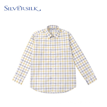 Custom Yellow Checks Poly Cotton TC Breathable Shirts