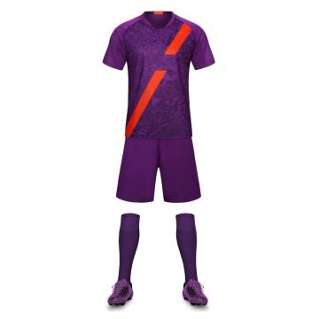 Purple color soccer training uniform