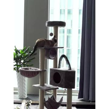 High Quality Wooden Cat Scratch Climbing Tower