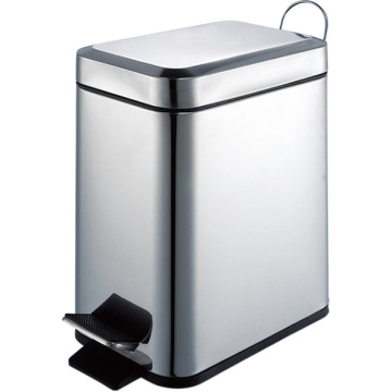 Oblong Shape 5L Stainless Steel Trashbin