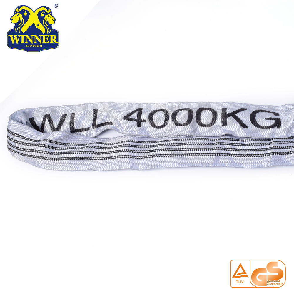 Soft 100% Polyester Endless 4 Ton Round Lifting Sling