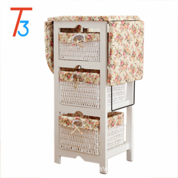 foldable ironing board solid wood cabinet center storage basket