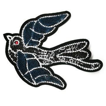 Customized toothbrush bird embroidery patch