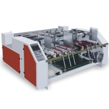 double pieces semi auto gluing machine