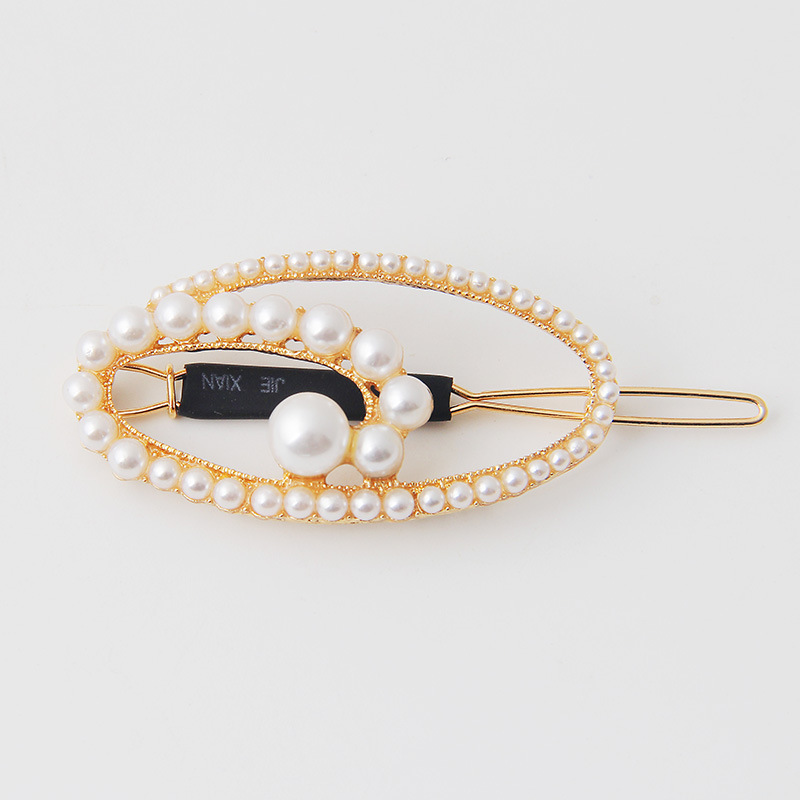 Ladies metallic pearl hair pin headpiece (3)