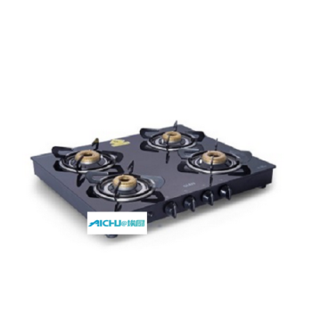 Glen Forged Brass Burner Black Cooktop