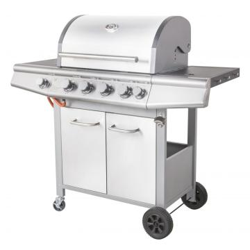 Stainless Steel 4 Burner Gas Grill with Timer