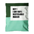 Waterproof Printed 10*13 Purple Poly Mailer Bag