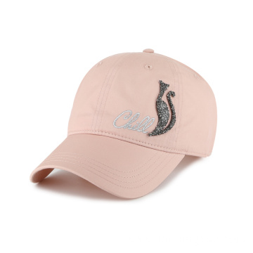 ladies baseball cap with custom shinning logo