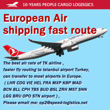 European Air shipping fast route the best air rate of TK airline