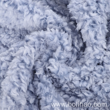 Dyed Solid Shu Velveteen Fleece Fabric