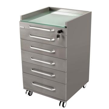 Mobile cart cabinet for hospital office