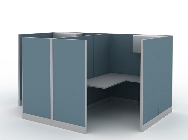 New style office furniture 2 person office workstation for small office