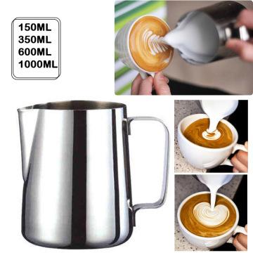 New Handheld Stainless Steel Milk Frothing Jug Espresso Coffee Pitcher Barista Craft Coffee Latte Milk Frothing Jug Pitcher