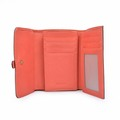 Genuine Leather Trifold Small Wallet Lady Red Purse