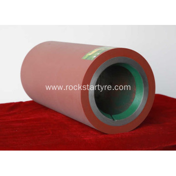 Brown color SBR rubber roller from China fuli rubber roller factory