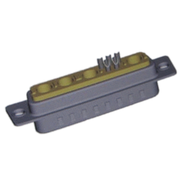 Coaxial D-SUB Power Connector 9W4 Male Solder Cup