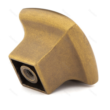 Gold Finish Square Kitchen Cabinet Drawer Knob