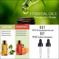 Yidiola 10Pcs Pure Essential Oils Set 5ML Gift Box Kit Lavender Tea Tree Sandalwood Jasmine Diffuser Massage Aroma Diffuser Oil