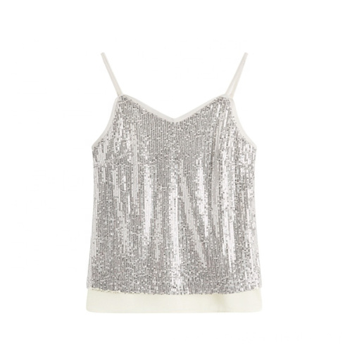 Sexy Sequin Inspired Fashion Spaghetti Strap Tops