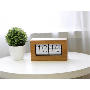 Small  Bamboo or Wooden Box Flip Clock