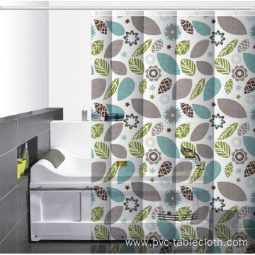 Waterproof Bathroom printed Shower Curtain Vinegar