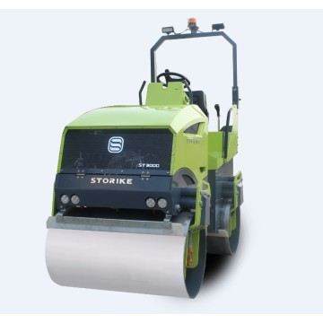 Ride on double drum roller compactor hydrostatic