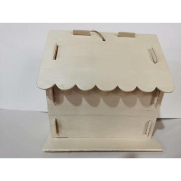 wooden bird house deco
