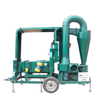 Seed grain cleaner machine double air cleaning system