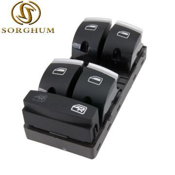 Sorghum New 4F0959851H Chrome Master Window Switch For A udi A3 8P A4 S4 RS4 B6 B7 A6 S6 RS6 C6 Q7