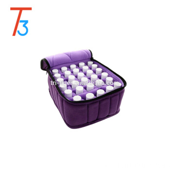 Essential Oil Carrying Case - Soft 30 Holds 5ml, 10ml, 15ml Aromatherapy Bottles - Essential Oils Display Organizer Bag