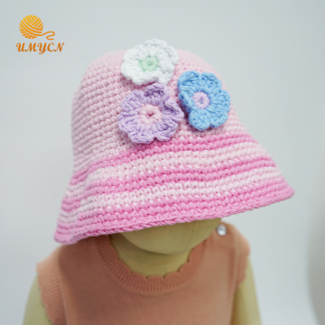 100% cotton  crochet beanie hat for baby