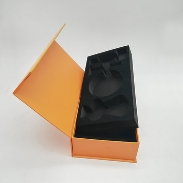 Yellow EVA Insert Paper Magnetic Gift Shaver Box