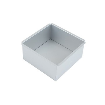 "6"" Square Cake Pan With Removable Bottom"