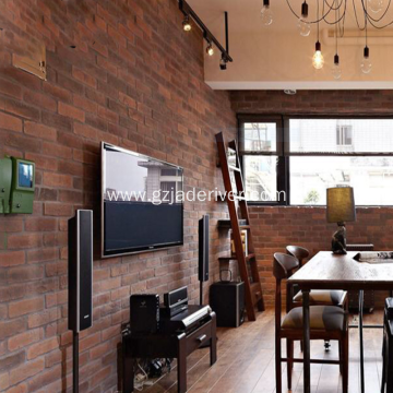 Background Stone Of Red Brick Artificial Stone Restaurant