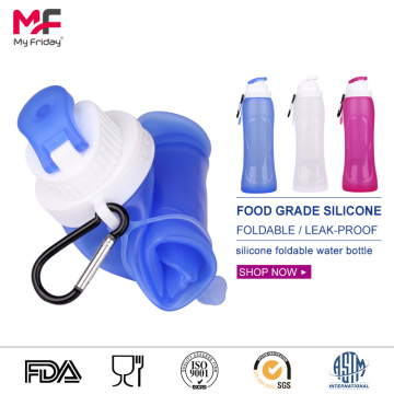 hot selling collapsible silicone water bottles