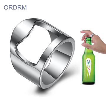Stainless Steel Ring With Beer Bottle Opener