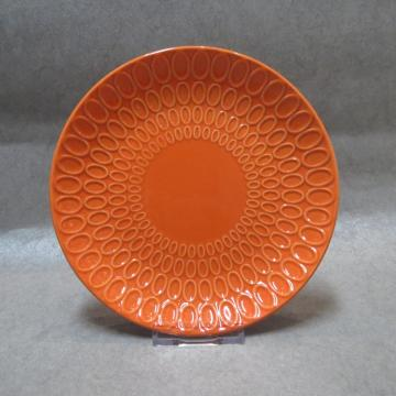 Embossed Plate With Colored Glaze
