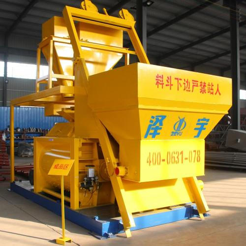 JS1000 precast twin shaft ready mix concrete mixer