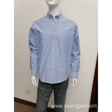 Mens cvc oxford long sleeve shirt
