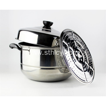 410 Stainless Steel Steamer Pot with Lid