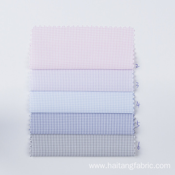 Business Check Bamboo fabric Ventilate Polyester Cloth