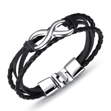 Cheap womens mens leather infinity bracelet